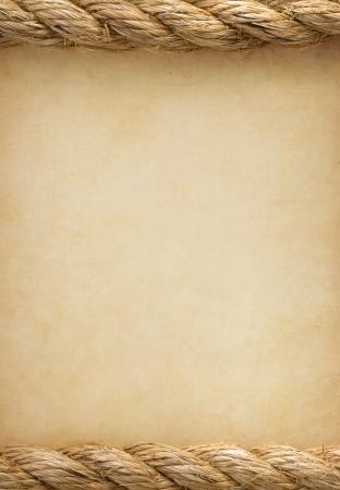 pętla: liny na stare zabytkowe tekstury starożytnej tle papieru