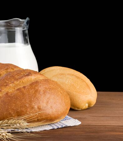 fresh bread isolated on black background Stock Photo - 15459981