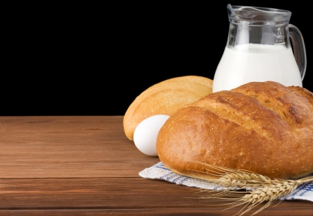 fresh bread isolated on black background Stock Photo - 15460025