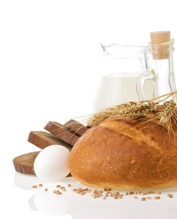 fresh bread isolated on white background Stock Photo - 15459953