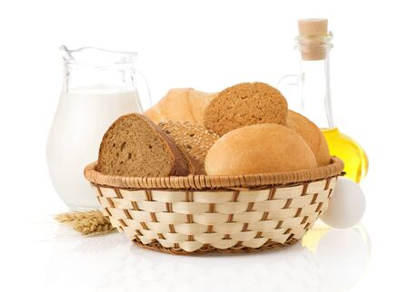 fresh bread isolated on white background Stock Photo - 15459960