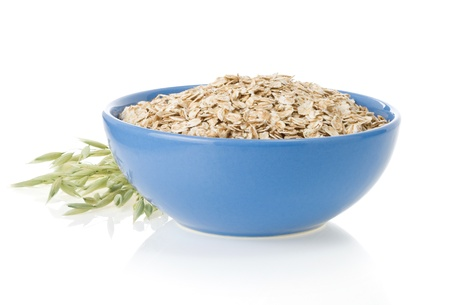 bowl of oat flake isolated on white background Stock Photo - 15459891