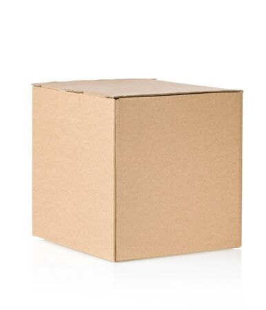 cardboard box isolated on white background photo