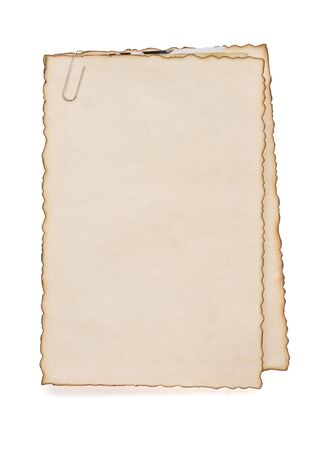 paper vintage parchment isolated on white background photo