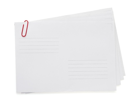 paper envelope isolated on white background photo