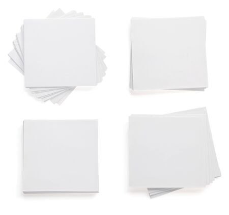 note paper isolated on white background photo