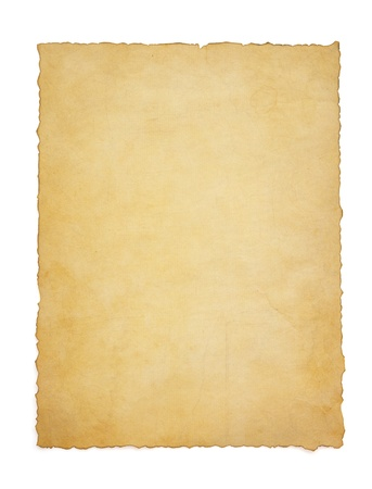 vintage paper: paper vintage parchment isolated on white background