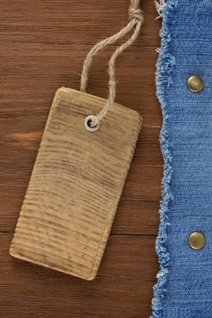 blue jean on wood texture background Stock Photo - 16302098