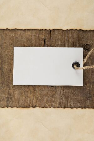 tag price on wood background texture photo