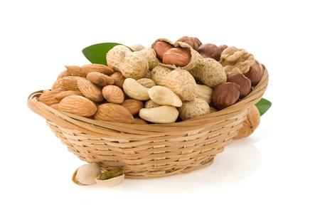 set of nuts isolated on white background Stock Photo - 16657328