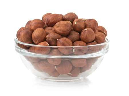 nuts hazelnut isolated on white background photo