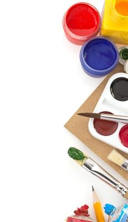 brush and paint  isolated on white background Stock Photo - 17602736