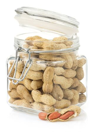 nuts peanuts isolated on white background photo