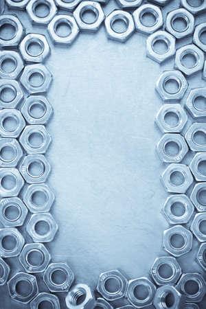 strumento di noce su sfondo metal texture
