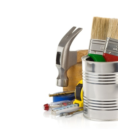 construction tools isolated on white background Stock Photo - 20940045