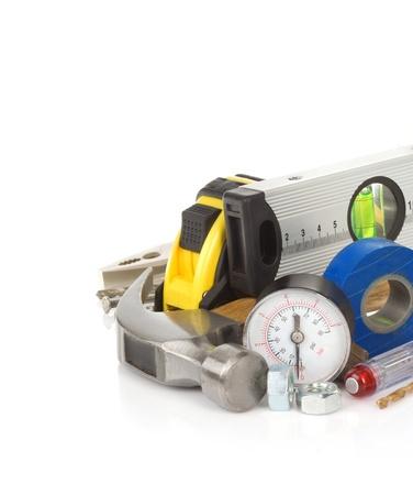 construction tools isolated on white background Stock Photo - 20944280