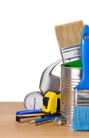 construction tools isolated on white background Stock Photo - 20952002