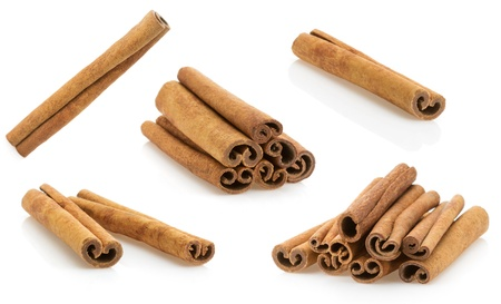 cinnamon stick isolated on white background photo
