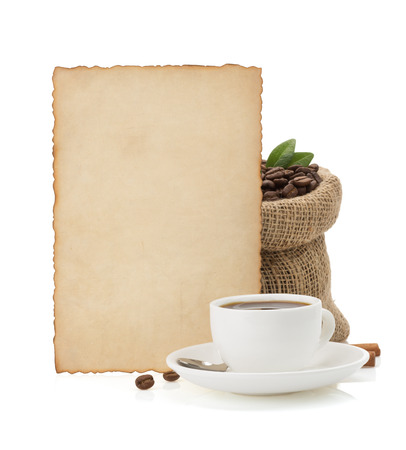 cup of coffee isolated on white  photo