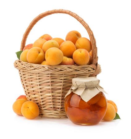 apricot fruit isolated on white background photo