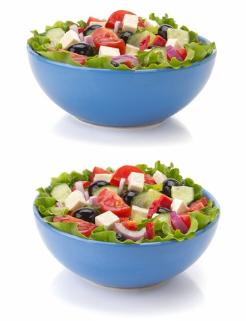 salad in bowl isolated on white background Stock Photo - 22605917