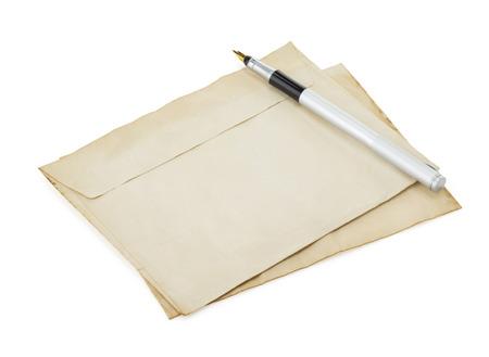 old retro envelope isolated on white background Stock Photo - 22779974