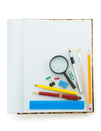 back to school concept isolated on white background photo
