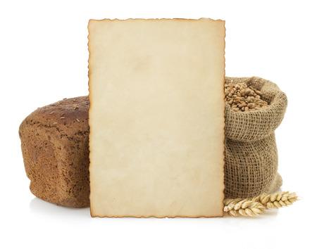fresh bread isolated on white  photo