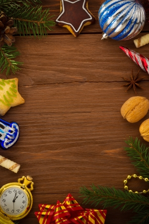 christmas concept on wood  photo