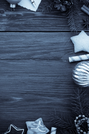 christmas decoration on wood  photo