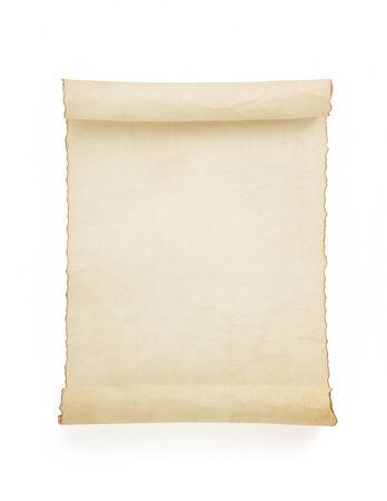 parchment scroll isolated on white background Reklamní fotografie