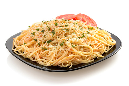 pasta spaghetti macaroni isolated on white background photo
