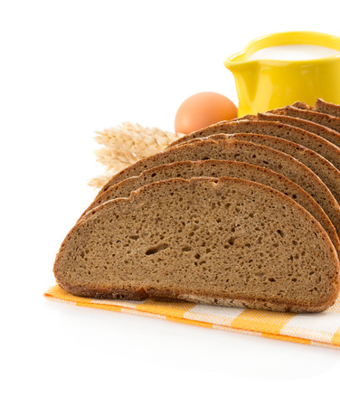 ear checked: fresh bread isolated on white background
