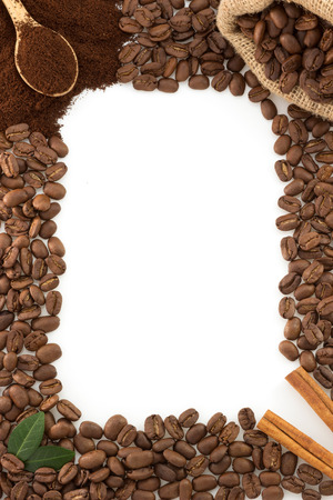 coffee concept isolated on white background photo