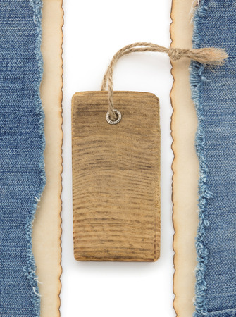 blue jean and old paper background photo