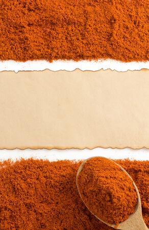 paprika powder isolated on white background photo