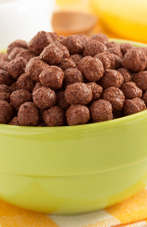 cereal chocolate balls  in bowl photo