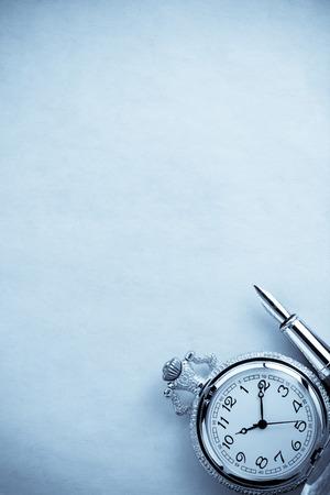 ink pen on parchment background texture photo