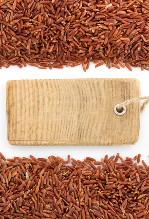 rice grain isolated on white background photo