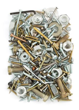 hardware tools isolated on white background photo