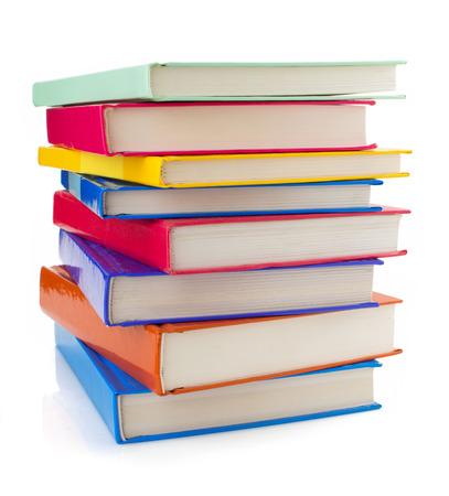 stapel boeken geïsoleerd op witte achtergrond Stockfoto