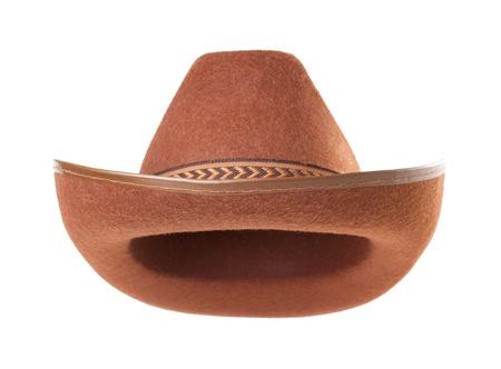 cowboy hoed op een witte achtergrond