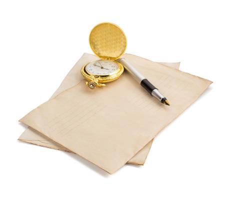 old envelope: old retro envelope isolated on white background