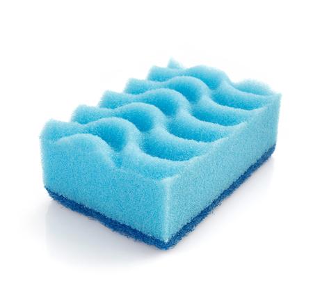 cleaning sponge isolated on white background photo