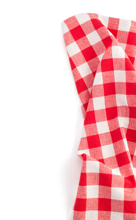 cloth napkin isolated on white background Stock Photo