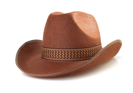 working cowboy: cowboy hat isolated on white background