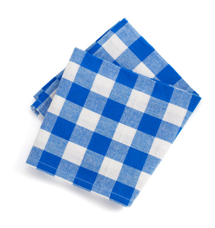 �napkin: servilleta doblada aislado en fondo blanco
