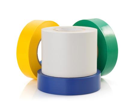 adhesive tape tool isolated on white background photo