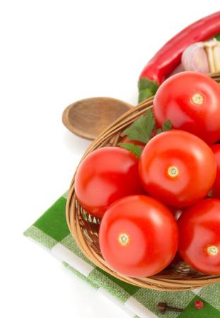 tomato isolated on white background photo