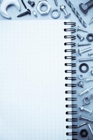 hardware tools: hardware tools at metal background texture